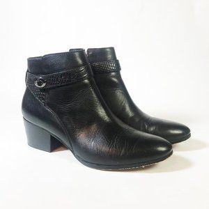 Coach Ankle Boots with Side Zipper, Size 10